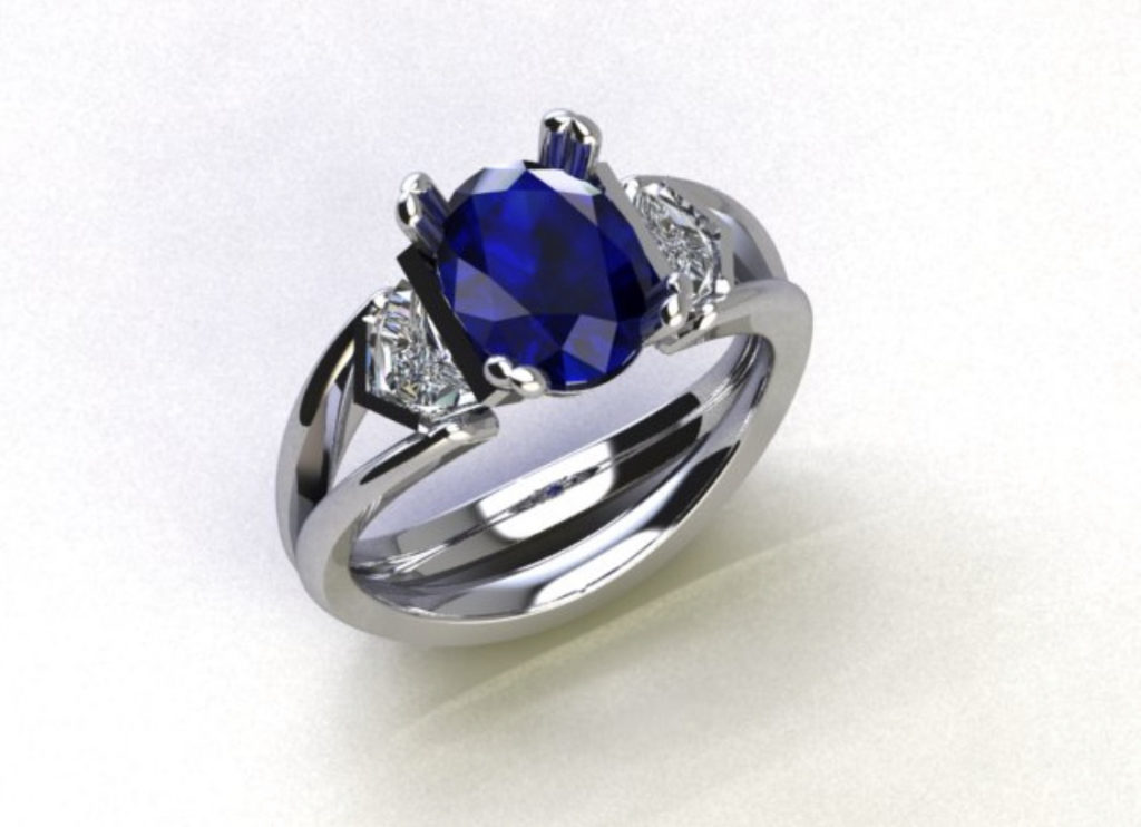 engagement rings custom made by ronan campbell bespoke sapphire diamond designyard