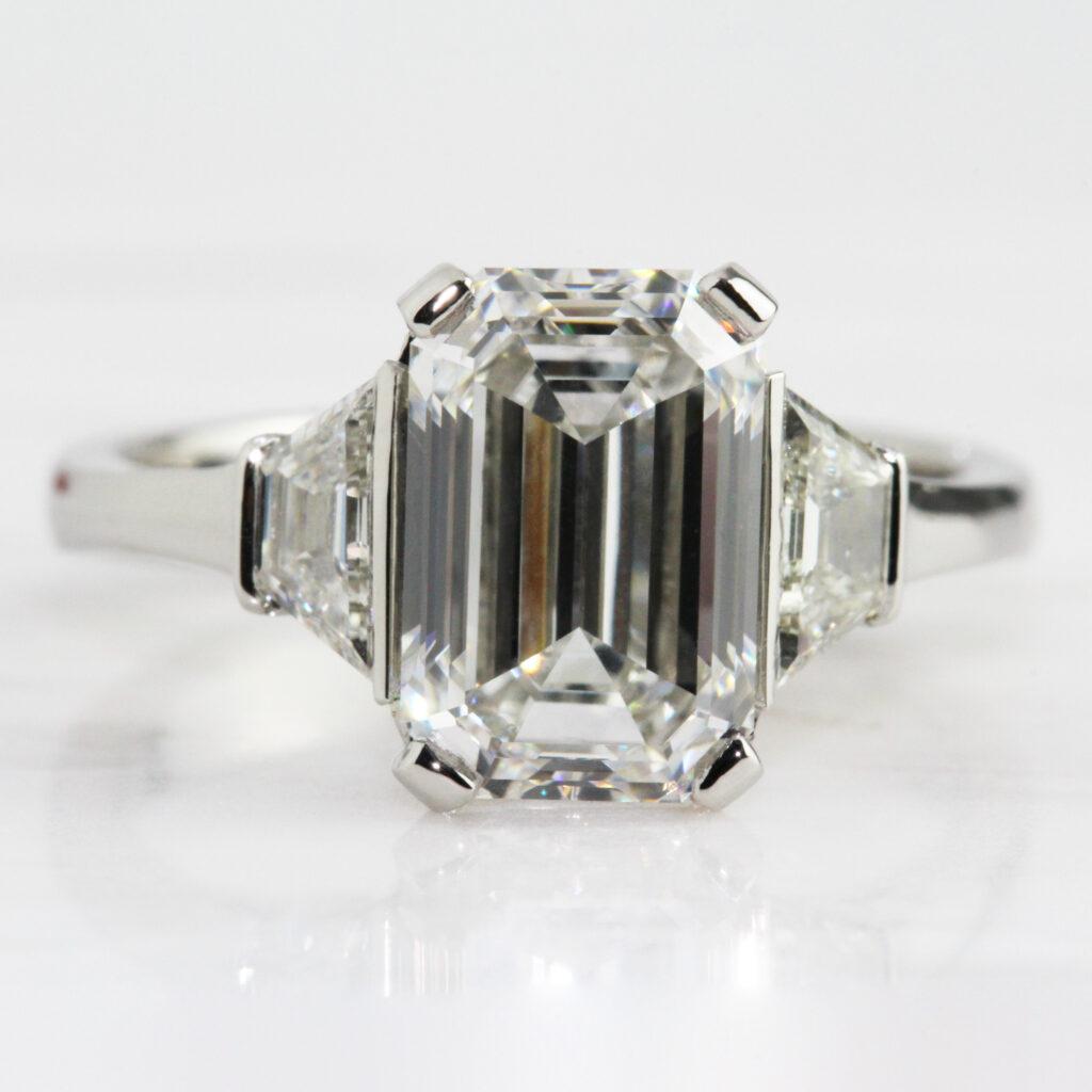 4ct diamond engagement rings ronan campbell bespoke emerald cut diamond engagement ring luxury high jewelry private jeweller celebrity jeweler dublin ireland designyard contemporary atelier