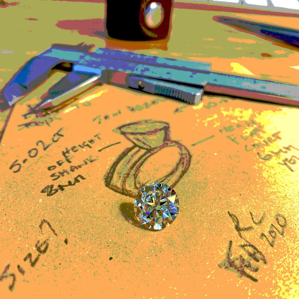 round brilliant gia certified handmade bespoke diamond engagement rings dublin ireland designyard ronan campbell 6ct 5ct 4ct 3ct 2ct 1ct