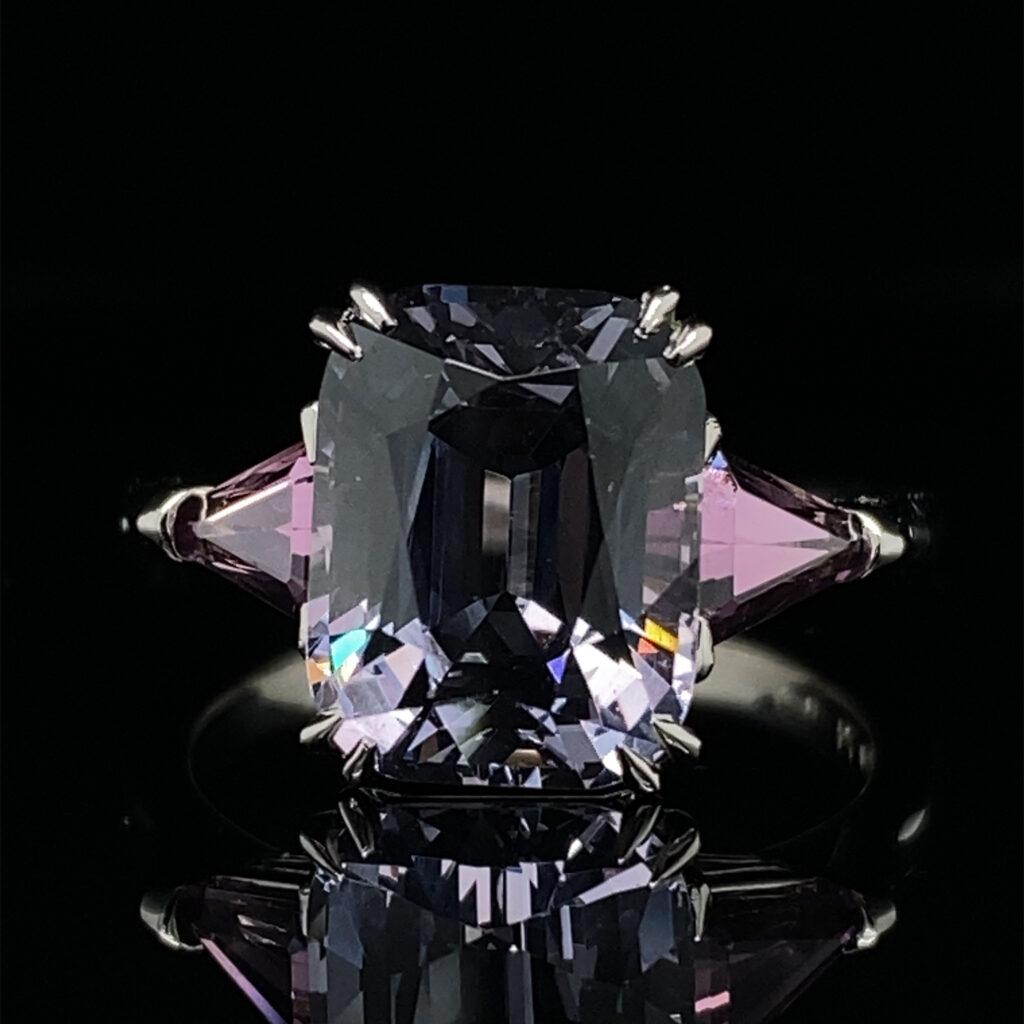 ronan campbell grey spinel alternative engagement ring designyard contemporary jewellery gallery dublin ireland